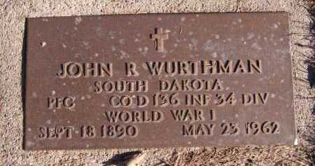 WURTHMAN, JOHN R. - Moody County, South Dakota | JOHN R. WURTHMAN - South Dakota Gravestone Photos