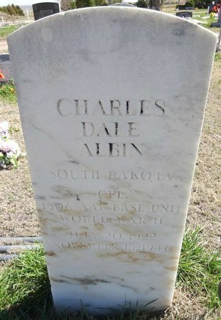 ALBIN, CHARLES DALE - Pennington County, South Dakota | CHARLES DALE ALBIN - South Dakota Gravestone Photos