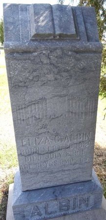 ALBIN, ELIZA - Pennington County, South Dakota | ELIZA ALBIN - South Dakota Gravestone Photos