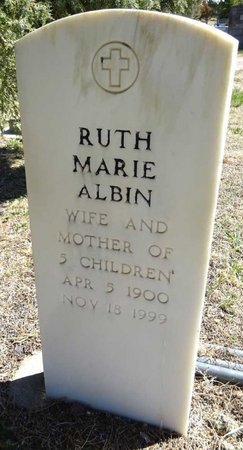 KITTERMAN ALBIN, RUTH MARIE - Pennington County, South Dakota | RUTH MARIE KITTERMAN ALBIN - South Dakota Gravestone Photos