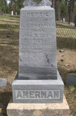 AMERMAN, A.S. - Pennington County, South Dakota   A.S. AMERMAN - South Dakota Gravestone Photos