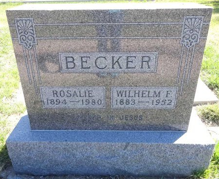 BECKER, ROSALIE - Pennington County, South Dakota | ROSALIE BECKER - South Dakota Gravestone Photos