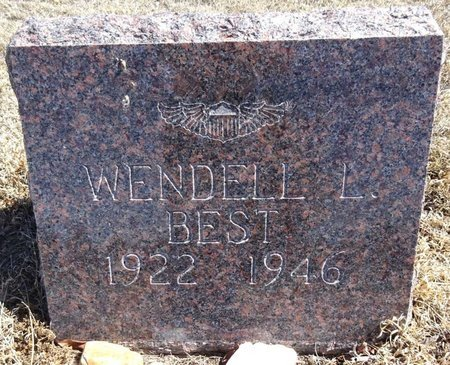 BEST, WENDELL - Pennington County, South Dakota   WENDELL BEST - South Dakota Gravestone Photos