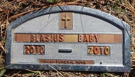 BLASIUS, BABY - Pennington County, South Dakota   BABY BLASIUS - South Dakota Gravestone Photos