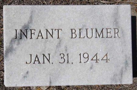 BLUMER, INFANT - Pennington County, South Dakota   INFANT BLUMER - South Dakota Gravestone Photos