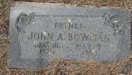 BOWMAN, JOHN A. - Pennington County, South Dakota | JOHN A. BOWMAN - South Dakota Gravestone Photos