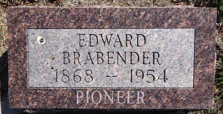 BRABENDER, EDWARD - Pennington County, South Dakota   EDWARD BRABENDER - South Dakota Gravestone Photos