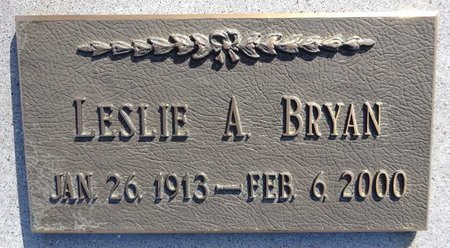 BRYAN, LESLIE - Pennington County, South Dakota   LESLIE BRYAN - South Dakota Gravestone Photos