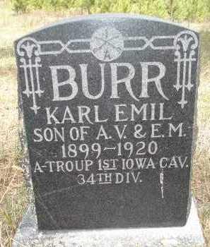 BURR, KARL EMIL - Pennington County, South Dakota   KARL EMIL BURR - South Dakota Gravestone Photos