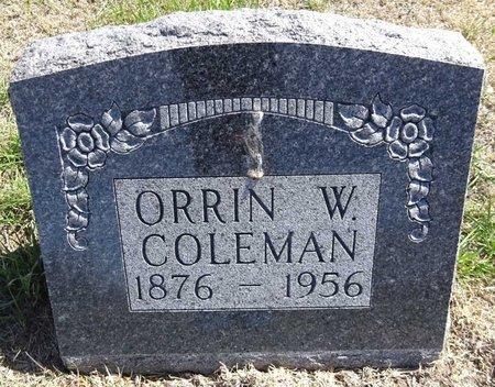 COLEMAN, ORRIN - Pennington County, South Dakota   ORRIN COLEMAN - South Dakota Gravestone Photos