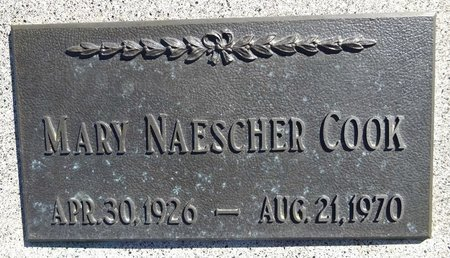 NAESCHER COOK, MARY - Pennington County, South Dakota | MARY NAESCHER COOK - South Dakota Gravestone Photos