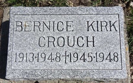 CROUCH, BERNICE - Pennington County, South Dakota   BERNICE CROUCH - South Dakota Gravestone Photos