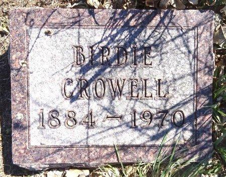 CROWELL, BIRDIE - Pennington County, South Dakota | BIRDIE CROWELL - South Dakota Gravestone Photos