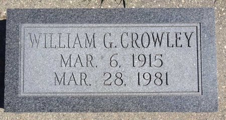 CROWLEY, WILLIAM - Pennington County, South Dakota | WILLIAM CROWLEY - South Dakota Gravestone Photos