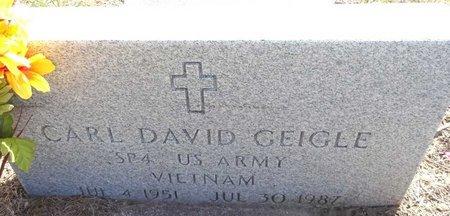 GEIGLE, CARL DAVID - Pennington County, South Dakota   CARL DAVID GEIGLE - South Dakota Gravestone Photos