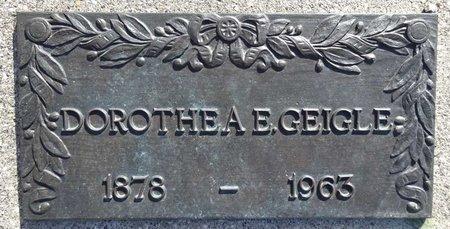 GEIGLE, DOROTHEA - Pennington County, South Dakota | DOROTHEA GEIGLE - South Dakota Gravestone Photos