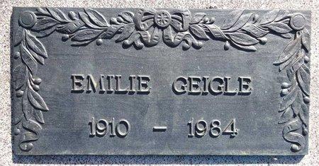 GEIGLE, EMILIE - Pennington County, South Dakota | EMILIE GEIGLE - South Dakota Gravestone Photos