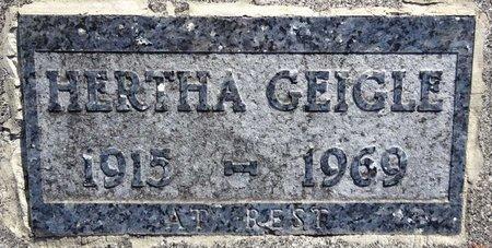 GEIGLE, HERTHA - Pennington County, South Dakota | HERTHA GEIGLE - South Dakota Gravestone Photos