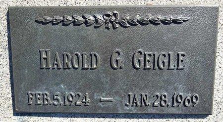 GEIGLE, HAROLD - Pennington County, South Dakota | HAROLD GEIGLE - South Dakota Gravestone Photos