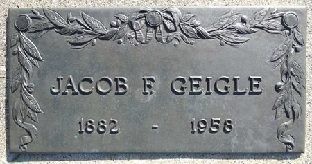 GEIGLE, JACOB - Pennington County, South Dakota | JACOB GEIGLE - South Dakota Gravestone Photos