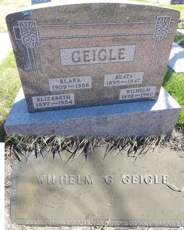 GEIGLE, WILHELM - Pennington County, South Dakota | WILHELM GEIGLE - South Dakota Gravestone Photos