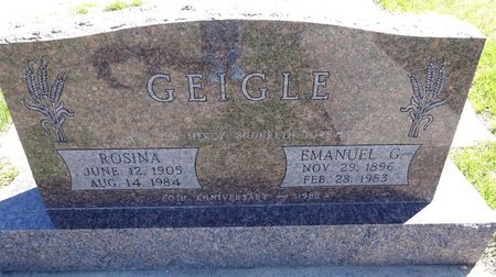 SCHULER GEIGLE, ROSINA - Pennington County, South Dakota | ROSINA SCHULER GEIGLE - South Dakota Gravestone Photos