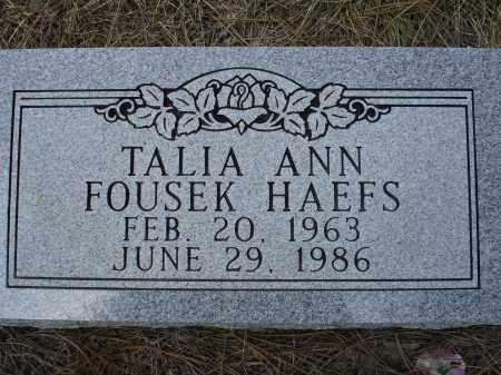 HAEFS, TALIA ANN - Pennington County, South Dakota | TALIA ANN HAEFS - South Dakota Gravestone Photos