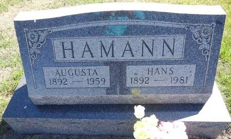 HAMANN, AUGUSTA - Pennington County, South Dakota | AUGUSTA HAMANN - South Dakota Gravestone Photos