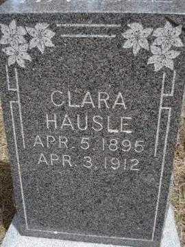 HAUSLE, CLARA - Pennington County, South Dakota | CLARA HAUSLE - South Dakota Gravestone Photos