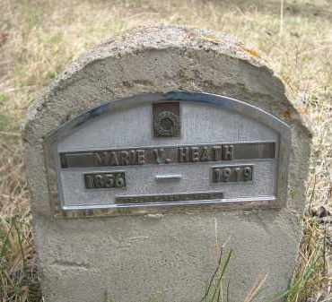 HEATH, MARIE V. - Pennington County, South Dakota | MARIE V. HEATH - South Dakota Gravestone Photos
