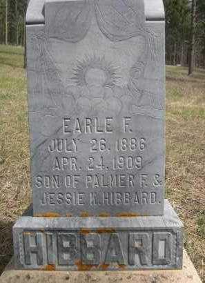 HIBBARD, EARLE F. - Pennington County, South Dakota   EARLE F. HIBBARD - South Dakota Gravestone Photos
