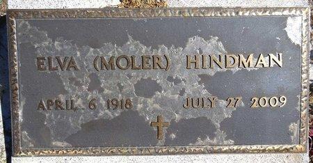 MOLER HINDMAN, ELVA - Pennington County, South Dakota | ELVA MOLER HINDMAN - South Dakota Gravestone Photos