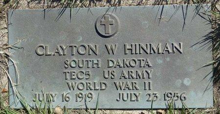 HINMAN, CLAYTON - Pennington County, South Dakota | CLAYTON HINMAN - South Dakota Gravestone Photos