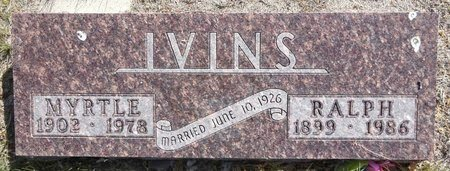 BARR IVINS, MYRTLE - Pennington County, South Dakota | MYRTLE BARR IVINS - South Dakota Gravestone Photos