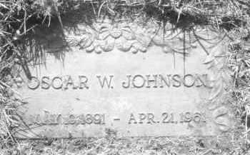 JOHNSON, OSCAR W. - Pennington County, South Dakota | OSCAR W. JOHNSON - South Dakota Gravestone Photos