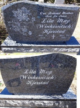 WINKOWITSCH KJERSTAD, LILA MAY - Pennington County, South Dakota | LILA MAY WINKOWITSCH KJERSTAD - South Dakota Gravestone Photos