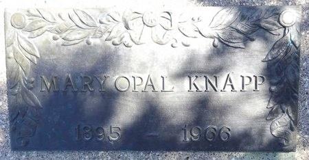 KNAPP, MARY OPAL - Pennington County, South Dakota | MARY OPAL KNAPP - South Dakota Gravestone Photos