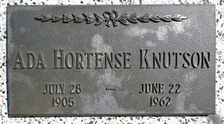 KNUTSON, ADA HORTENSE - Pennington County, South Dakota | ADA HORTENSE KNUTSON - South Dakota Gravestone Photos