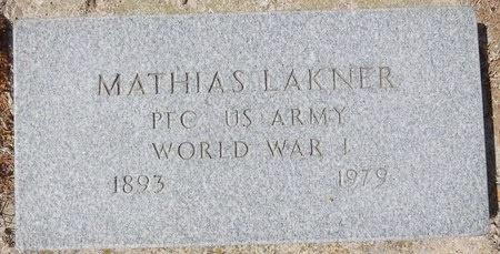 LAKNER, MATHIAS - Pennington County, South Dakota | MATHIAS LAKNER - South Dakota Gravestone Photos