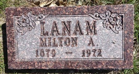 LANAM, MILTON - Pennington County, South Dakota | MILTON LANAM - South Dakota Gravestone Photos
