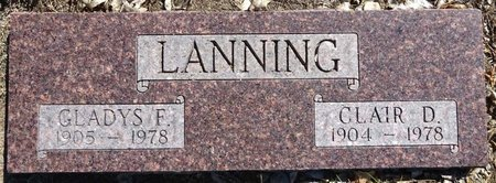 LANNING, CLAIR - Pennington County, South Dakota | CLAIR LANNING - South Dakota Gravestone Photos