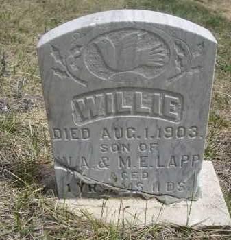 LAPP, WILLIE - Pennington County, South Dakota | WILLIE LAPP - South Dakota Gravestone Photos