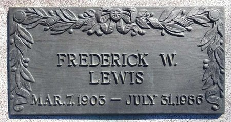 LEWIS, FREDERICK - Pennington County, South Dakota | FREDERICK LEWIS - South Dakota Gravestone Photos
