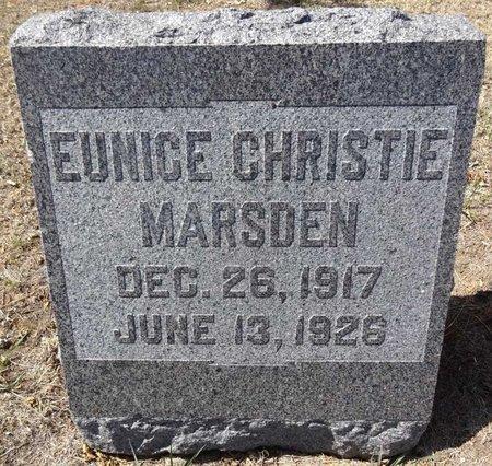 MARSDEN, EUNICE CHRISTIE - Pennington County, South Dakota | EUNICE CHRISTIE MARSDEN - South Dakota Gravestone Photos