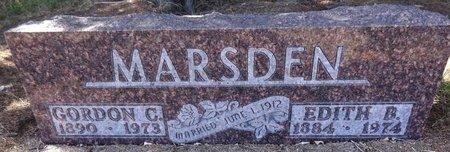 MARSDEN, GORDON - Pennington County, South Dakota | GORDON MARSDEN - South Dakota Gravestone Photos