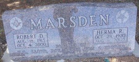 DURST MARSDEN, HERMA - Pennington County, South Dakota   HERMA DURST MARSDEN - South Dakota Gravestone Photos