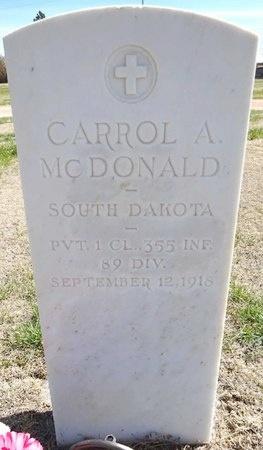 MCDONALD, CARROL - Pennington County, South Dakota | CARROL MCDONALD - South Dakota Gravestone Photos