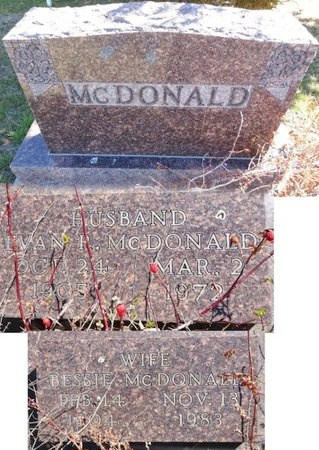 MCDONALD, BESSIE - Pennington County, South Dakota | BESSIE MCDONALD - South Dakota Gravestone Photos