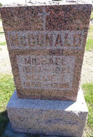 MCDONALD, MICHAEL - Pennington County, South Dakota | MICHAEL MCDONALD - South Dakota Gravestone Photos