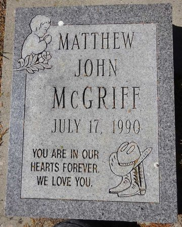 MCGRIFF, MATTHEW JOHN - Pennington County, South Dakota   MATTHEW JOHN MCGRIFF - South Dakota Gravestone Photos
